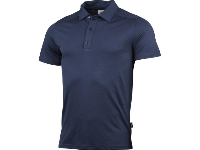 Lundhags Gimmer Merino Polo T-shirt Heren, deep blue